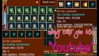"""►Ninja School Online►Khai Mở Cấp 25 Cho Gia Tộc """"YOUTUBE"""" Chỉ Với 5 Triệu ATM !!!"""