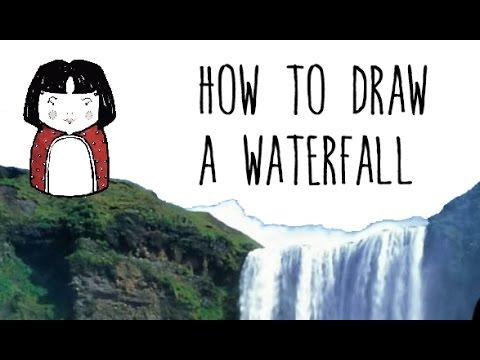 quick draw of waterfall - photo #16