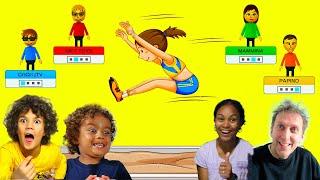 CHI SALTA PIU\' IN LUNGO? (Sfida in Famiglia Wii Party U) *videogiochi sports*