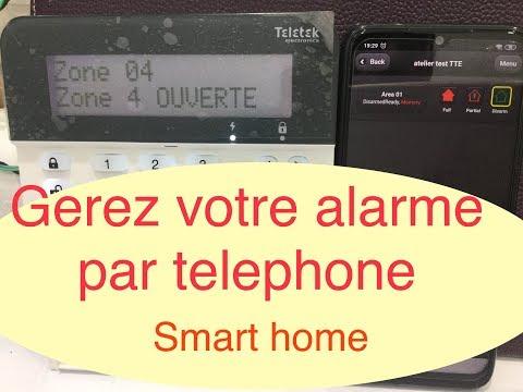#15-Gestion alarme Teletek par application sur Telephone (smart home)