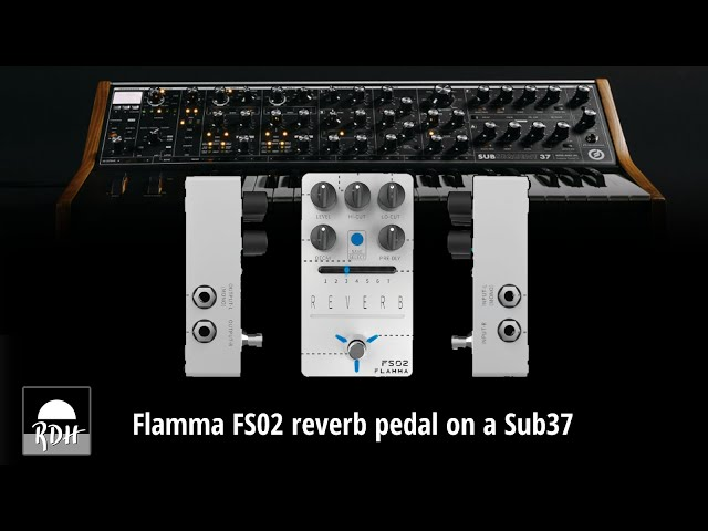 Flamma FS02 reverb pedal with a Sub37