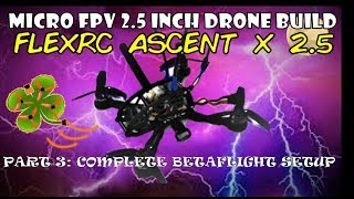 Micro FPV 2.5 Inch Drone Build - Part 3 BetaFlight Setup