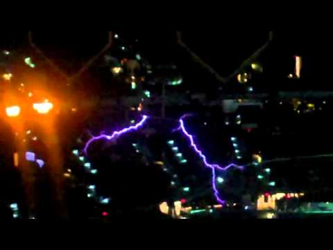 Tampa Bay Lightning's Tesla coils in action