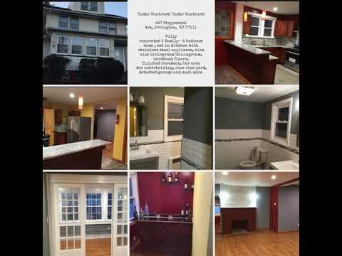 Under Contract! Under Contract!  447 Stuyvesant Ave, Irvington,  NJ 07111  Fully Renovated 2 Family…