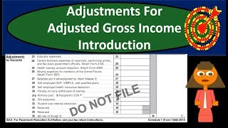 Gambar cover Adjustments For Adjusted Gross Income Introduction (AGI) - Above the Line Deduction 2018 2019