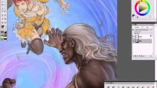 【Painter XI】蒙其-遊戲美術設計師利用 Painter 繪製遊戲封面設計概念分享(1/2)