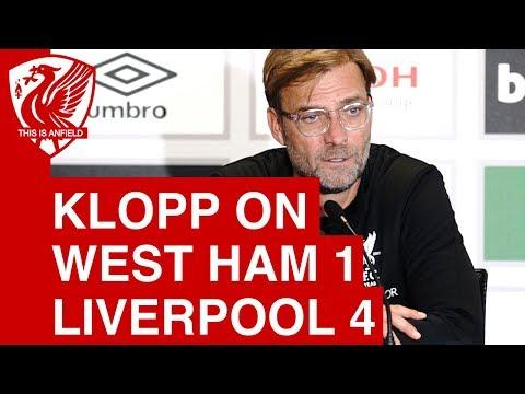 "Jurgen Klopp on West Ham 1-4 Liverpool: ""We wanted to strike back"""