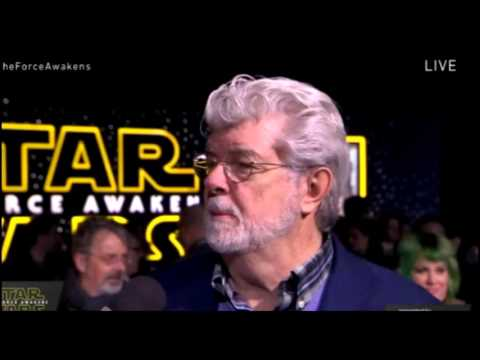 George Lucas Interview - Star Wars The Force Awakens Red Carpet