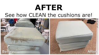 AFTER - Outdoor Patio Cushion Cleaning - Look Like New Again!