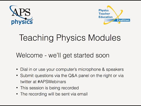 Teaching Physics Modules