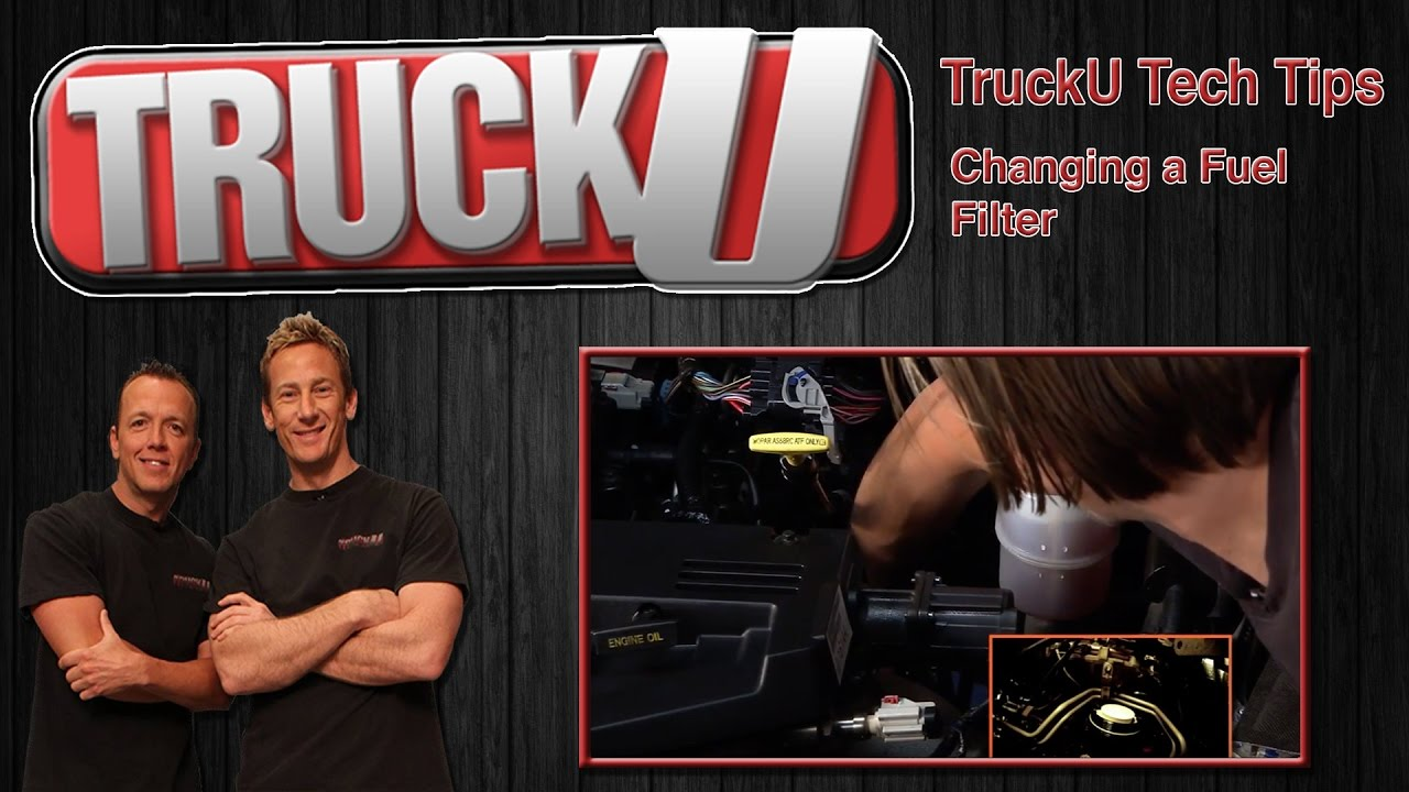 Changing A Fuel Filter In Cummings Diesel Engine Trucku Tech 1990 Chevy Silverado Location Tips