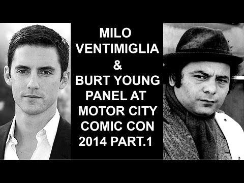 Milo Ventimiglia & Burt Young panel at Motor City Comic Con 2014 part  1