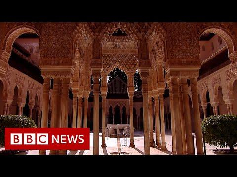 Coronavirus: Spain's Alhambra Palace reopens to visitors - BBC News
