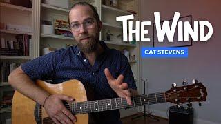 The Wind • Cat Stevens guitar lesson w/ tab