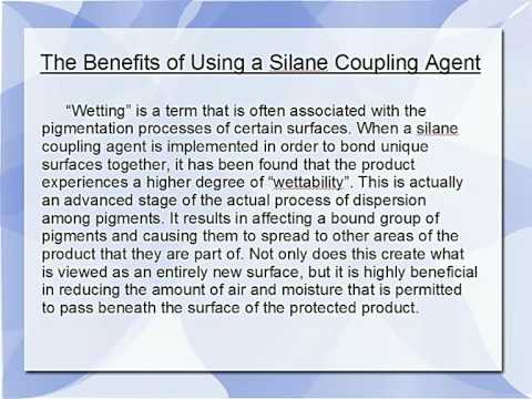 The Benefits of Using a Silane Coupling Agent
