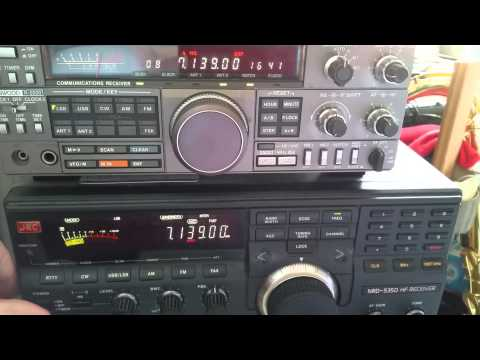 Kenwood R-5000 vs JRC NRD 535D HF Radio Ham Receiver
