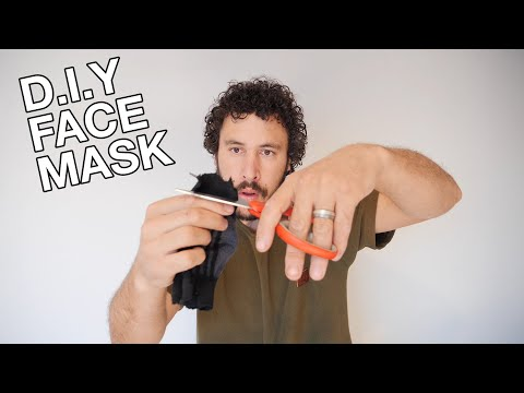 HOW TO MAKE A FACE MASK FROM A SOCK