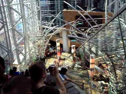Inside Langham Place Shopping Mall in Mong Kok, Hong Kong