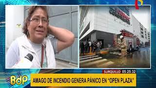 Surquillo: Amago De Incendio Generó Pánico En Centro Comercial Open Plaza