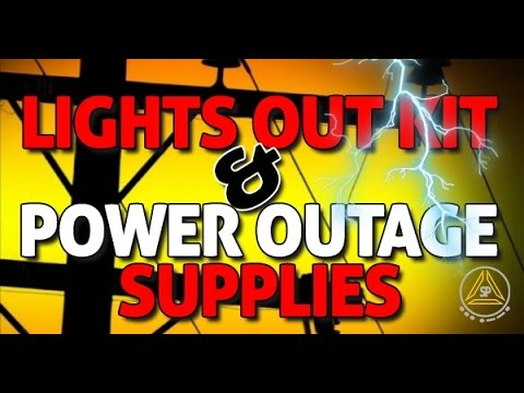 Preppers Lights Out Kit and Supplies for Power Outages