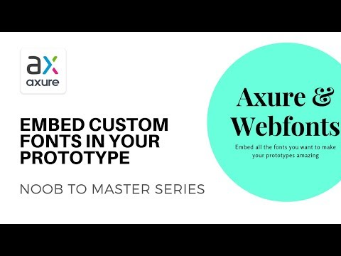 Use Custom Fonts In Your Prototypes | Axure RP: Noob To Master, Ep53