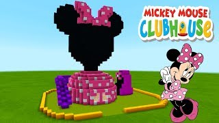 """Minecraft Tutorial: How To Make a Minnie Mouse Clubhouse House """"Mickey Mouse Clubhouse"""""""