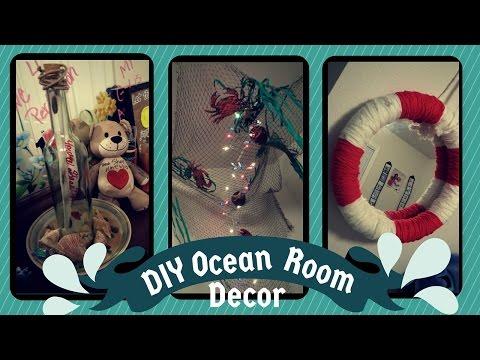 Ocean/Nautical Theme Room Decor | Fishnet Canopy | Lifesaver Mirror | And More!