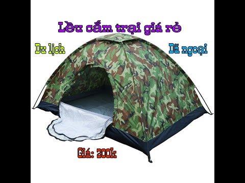 Lều cắm trại giá rẻ, 2 người du lịch dã ngoại giá 200k sendo