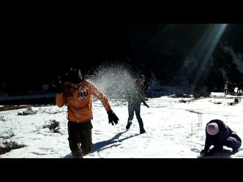 The snowfall of sikim