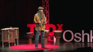 Drum Circles, Integrating Self and CommUninty | Robin Cardell | TEDxOshkosh