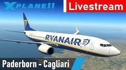 X-Plane 11   Paderborn - Cagliari (EDLP - LIEE)   Boeing 737-800   Ryanair   Livestream