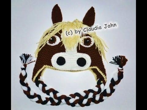 Pferdemütze Häkeln Mütze Tiermütze Pferd Pony Beanie