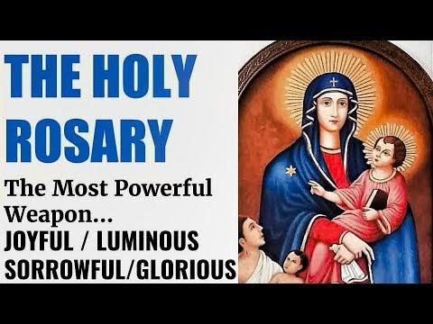 Holy Rosary Continuous Run - Joyful, Luminous, Sorrowful & Glorious Mysteries, Healing, Deliverance