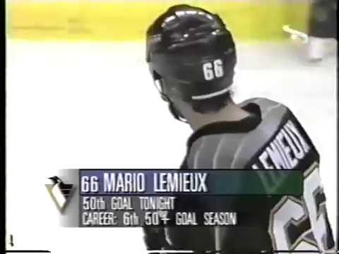 April 11, 1997 - Penguins at Panthers - Mario Lemieux (50), 2:28 (Penalty Shot)