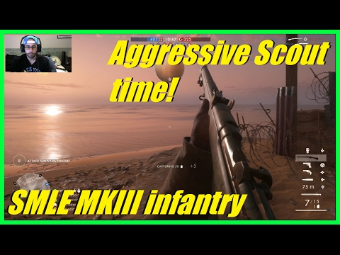 Battlefield 1 - Aggressive scout sniper time! | 50+ kills (S
