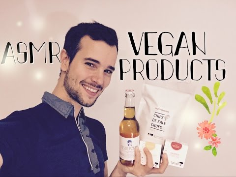 ASMR VEGAN Products (crinkles, bottle sounds, tapping)