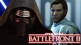 General Obi Wan vs Kylo Ren Rise of Skywalker! Star Wars Battlefront 2