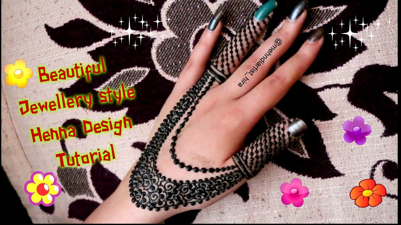 Mehndi design 2017 eid - How To Apply Easy Simple Henna Mehndi Designs For Hands Tutorial For Eid Diwali 2017