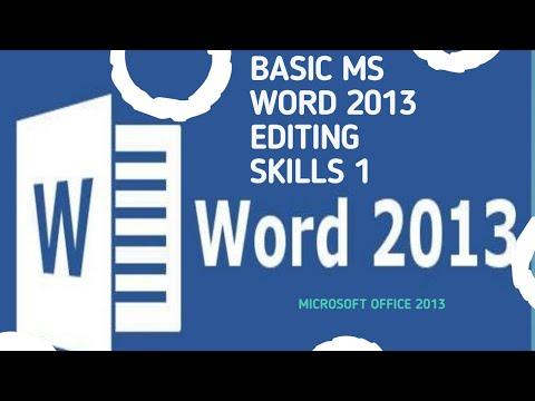 basic-ms-word-2013-editing-skills-1