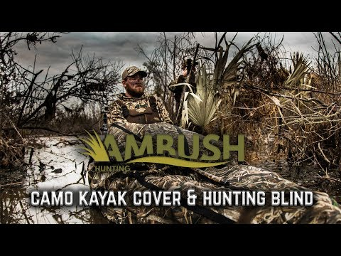 Ambush Kayak Camo Cover And Hunting Blind - Full Length