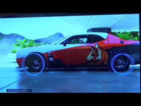 Forza 6, présentation Vista des Muscle Cars Chalenger SRT Hellcat.