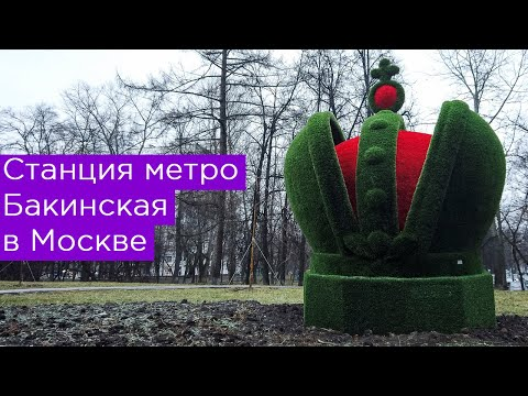 Станция метро Бакинская в Москве. Бирюлёвская линия