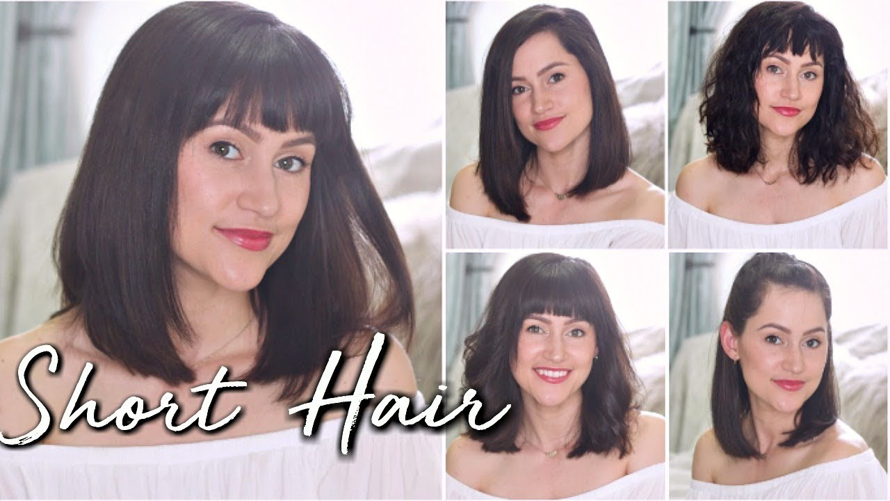 How I Style My Short Hair Shoulder Length Hairstyles Youtube