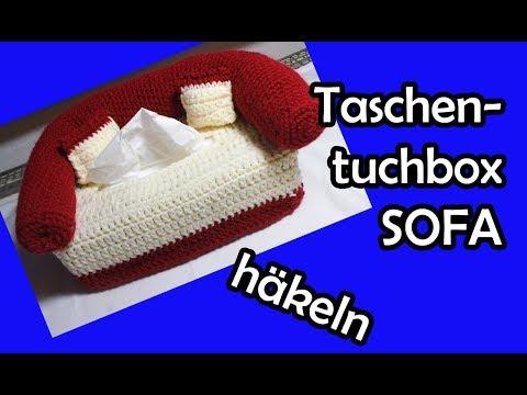 Taschentuchbox SOFA Häkeln - Romy Fischer Häkelanleitung