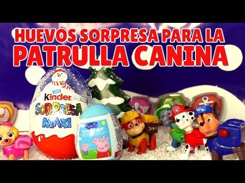 Papá Noel regala huevos sorpresa a la Patrulla Canina - Juguetes en Español
