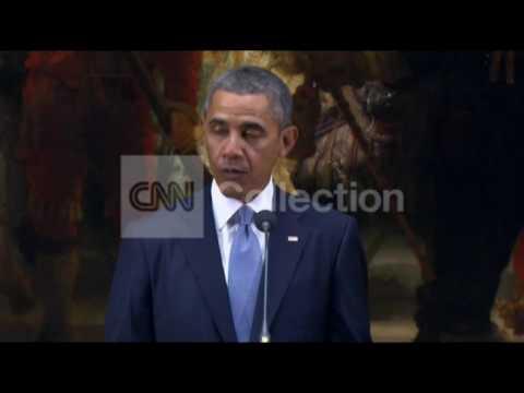 NETHERLANDS: OBAMA  SUPPORT FOR UKRAINE