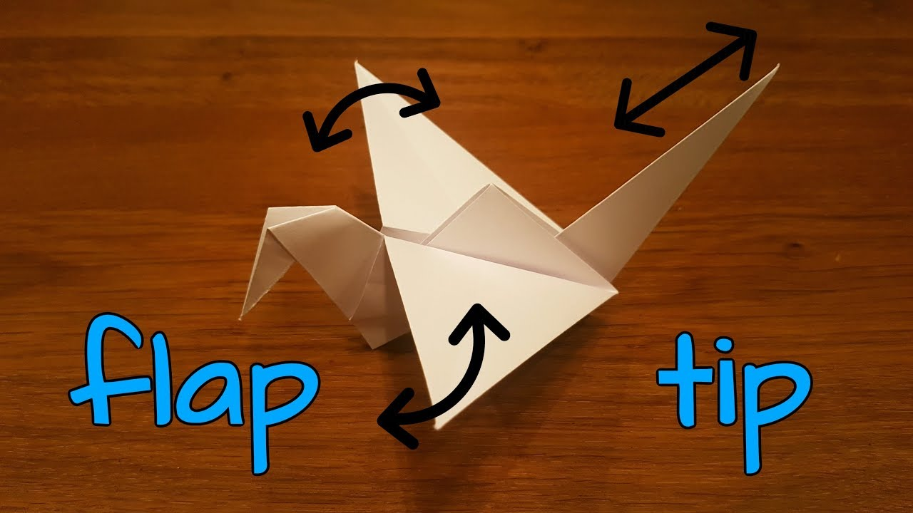 flapping bird | Flapping bird, Origami flapping bird, How to make ... | 720x1280