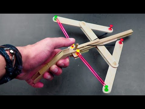 How To Make A Mini Crossbow With Trigger