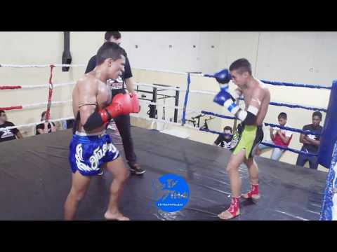 TV THAI - Gabriel ( Gladiadores ) vs Léo ( Factory Off Lions ) Xtreme Muay Thai || 50kg