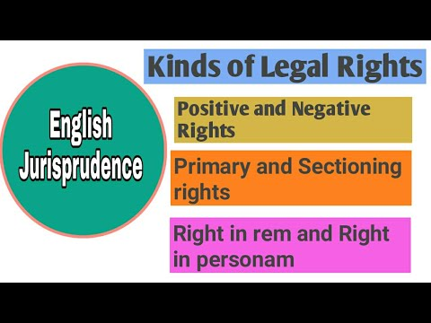 Kinds of Legal rights|jurisprudence